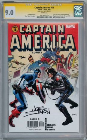 Captain America #14 CGC 9.0 Signature Series Signed Joe Simon Marvel comic book